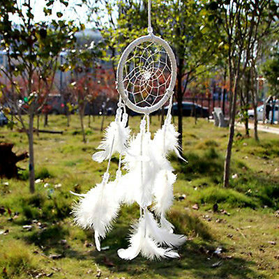 Handmade Dream Catcher Net With Feathers Hanging Car Decoration Decor Craft Gift