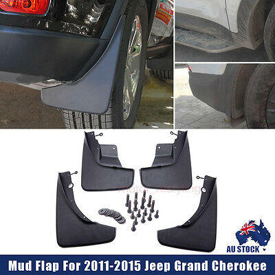 4pcs Black Front Rear Splash Guards Mud Flaps For 2011-2015 Jeep Grand Cherokee