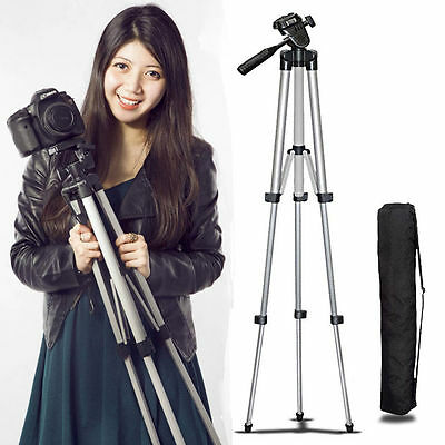 Universal Aluminum Tripod Stand & Bag For Canon Nikon Camera Camcorder Portable