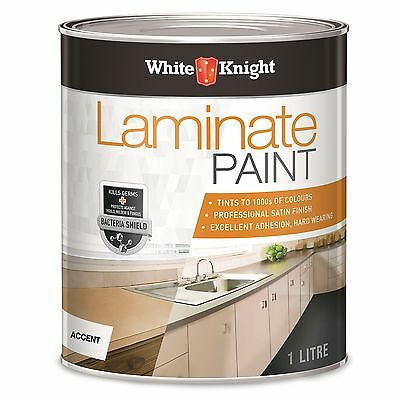 White Knight LAMINATE PAINT Interior Anti-Bacterial Satin ACCENT or NEUTRAL, 1L