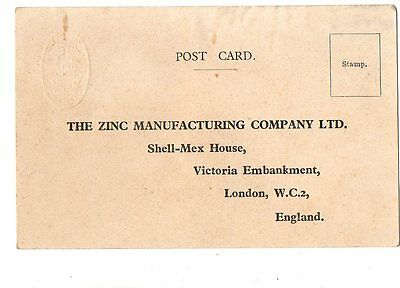 Cpa Angleterre England London The Zinc Manufacturing Company Ltd Postcard