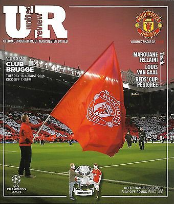 MANCHESTER UNITED v CLUB BRUGGE Champions League 2015/16 MINT