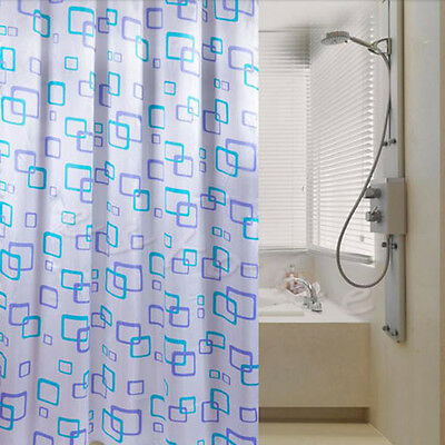 1pc Shower Curtain Bathroom Waterproof Polyester Fabric Pattern & Hooks