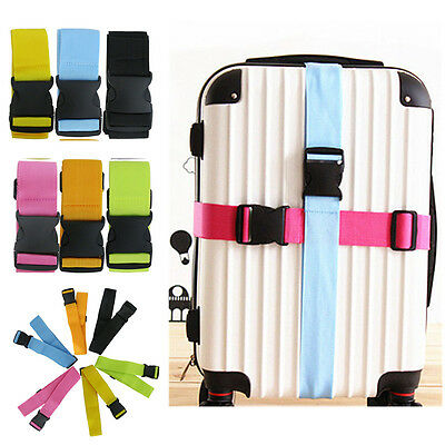 6 Colors Adjustable Luggage Strap Belt Secure Durable for Travel Suitcase Bag