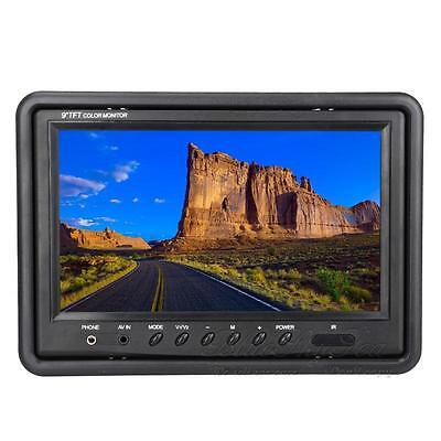 "9"" IN Car TFT LCD Reversing Rearview Monitor 2 Video input AV1 cord Prior NEWEST"