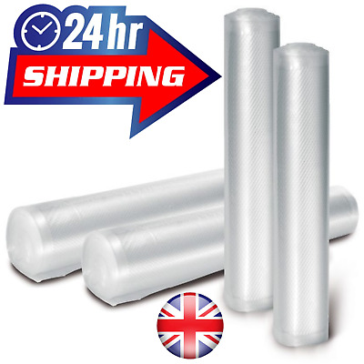 28Cm X 12M Vacuum Sealer Roll Embossed Vac Sous Vide Food Saver Textured Rolls