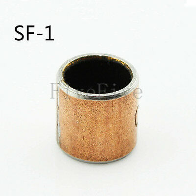 Inner Diameter 3/4/5/6/8/10/12/15mm SF-1 Self Lubricating Bearing Bronze Sleeve