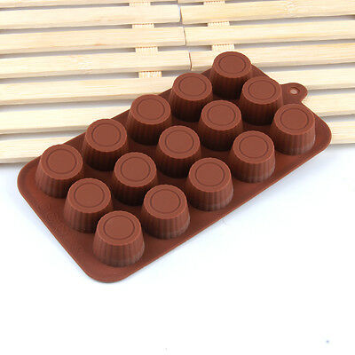 24 Cell Round Shaped Silicone Chocolate Mould Cake Decorating Candy Sugarcraft
