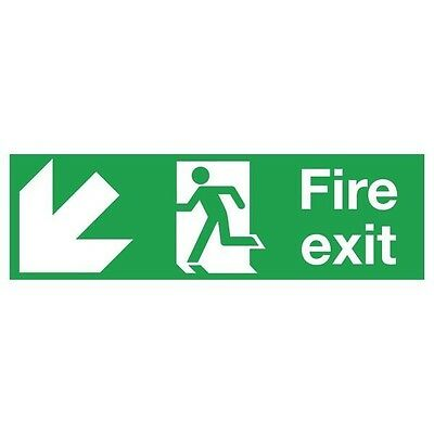 Signs and Labels Safety Sign Fire Exit Running Man Arrow Down/Left FX04011R
