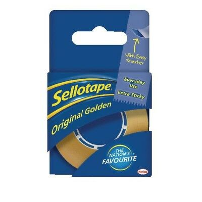 Sellotape Golden Tape 18mm x25 Metres 1443169 Pack of 8