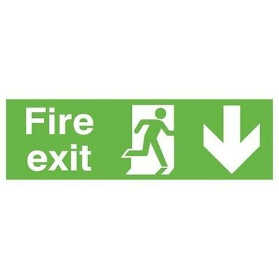 Signs and Labels Safety Sign Fire Exit Running Man Arrow Down FX04211R