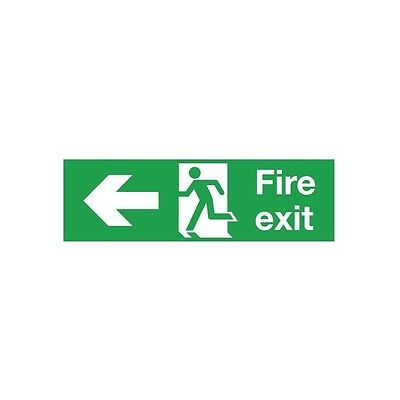 Signs and Labels Safety Sign Fire Exit Running Man Arrow Left PVC FX04311R
