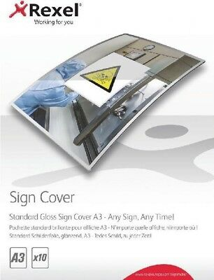 Rexel Standard Gloss Sign Cover A3 Pack of 10 2104254