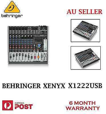 Brand New BEHRINGER XENYX X1222USB USB Audio Mixer 16-Input with Effects