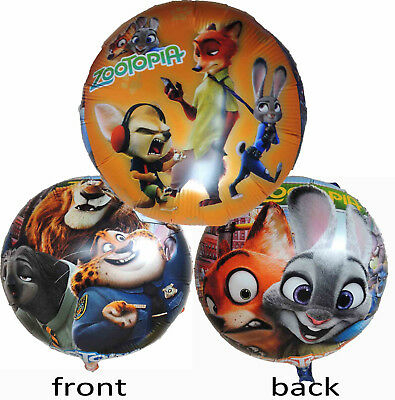 2Pcs Zootopia Judy Nick Birthday Balloon Party Lolly Bag Filler Gift Favor Decor