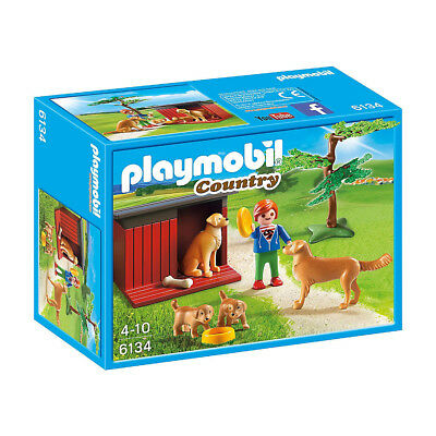NEW Playmobil Country Life Golden Retrievers with Toy