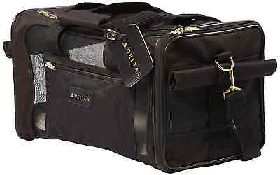Sherpa Delta Deluxe Pet Carrier Medium Black  Dog Cat Soft Sided Travel Crate