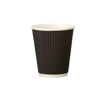 4Aces 8oz Black Ripple Paper Cup Pack 500