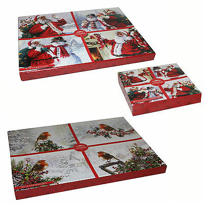 Christmas Tableware 4 Pack Boxed Cork Backed Placemat or Coaster Set