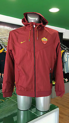 Giacca Vento Calcio Jacket Authentic Windrunner Nike As Roma 2016/2017 Rosso