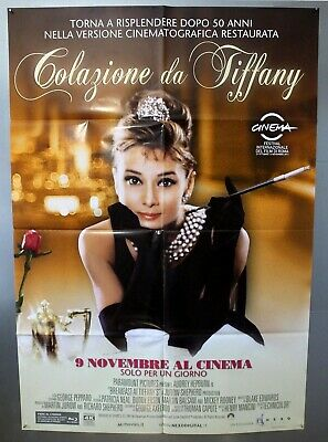 Breakfast At Tiffany's -Audrey Hepburn- Original Italian Two Sheet Movie Poster