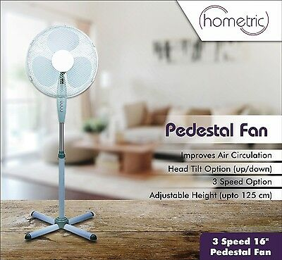 """Electric 16"""" Oscillating Extendable Free Standing Tower Pedestal Cooling Fan"""