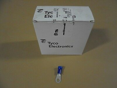 Tyco #52264 Blue Plasti Grip Ring Terminals, 6 Gauge, Box Of 100