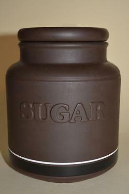 "Vintage 1978 Hornsea ""Contrast"" Kitchen Cannister storage Jar  ""SUGAR"""