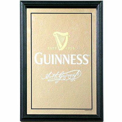 Guinness Harp & Signature Mirror Household Decorations. Chrismas/gift Ideas