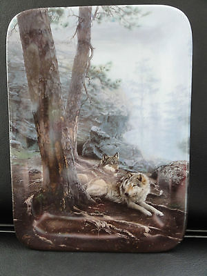 Bradford Exchange Limited Edition Porcelain Plate - The Wolves Lie Low