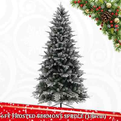 6 Ft 180Cm Frost Vermont Spruce Artificial Christmas Xmas Tree Real Needle Fir