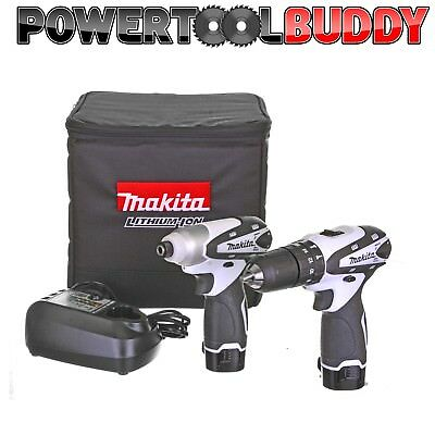 Makita LCT204W 10.8V 2 Pc Cordless Drill Kit, impact/ Driver *NEXT DAY DELIVERY*