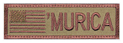'Murica Flag Patch Hook Back America Flag Patch Uniform Tab Patch 'Murica 73200