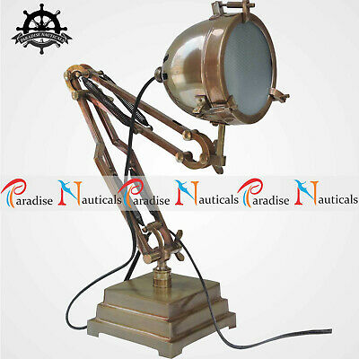 Unique Vintage 1930/1940s Authentic Brass Collectible Adjustable Table/Desk Lamp