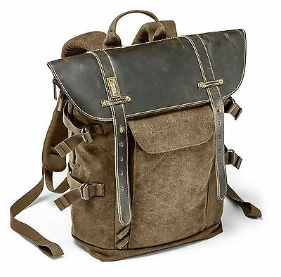 National Geographic NG A5290 Medium Backpack (NEW) Leather & Canvas, African Col