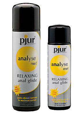 Pjur Analyse Me! Relaxing Silicone Anal Glide Lube 30 / 100 / 250ml Lubricant