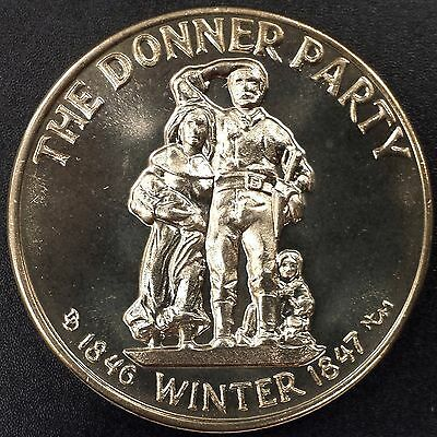 """""""The Donner Party"""" Commemorative Medallion, white metal, from Nevada City Mint!"""