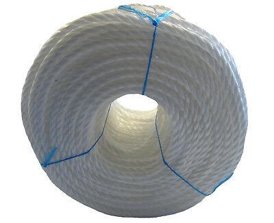 WHITE Poly Rope Coils, Polyrope, Polypropylene, Polyprop, Agriculture, Tarpaulin