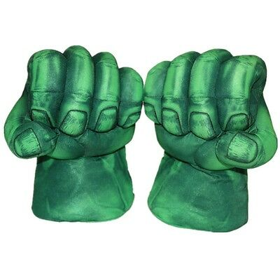 New Pair of The Incredible Hulk Smash Hands Boxing Fists Plush Green Gloves Toy7
