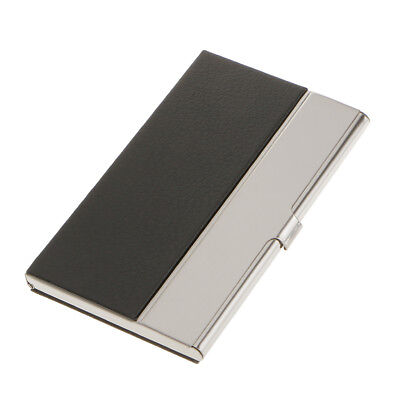 Stainless Steel Business Card Holder Name/Credit Card Case Wallet Gift Black