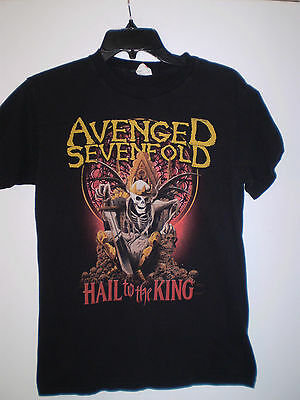 AVENGED SEVENFOLD 2013 Tour T Shirt Short Sleeve (S) Small BLACK Hail to King