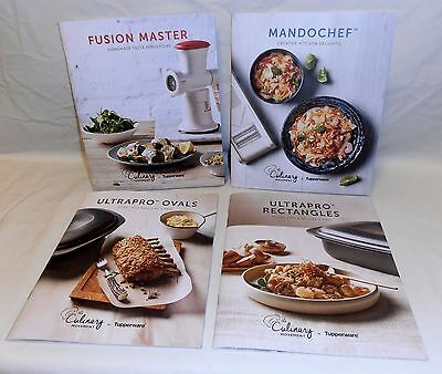 NEW Tupperware COOKBOOKS Ultrapro Ovals & Rectangles, Mandochef & Fusion Master