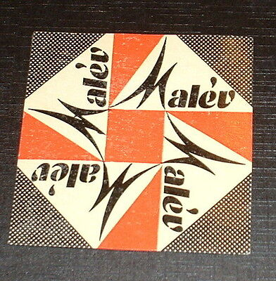 ORIGINAL 1950s AIRLINE LABEL MALEV HUNGARIAN AIRLINES STICKER