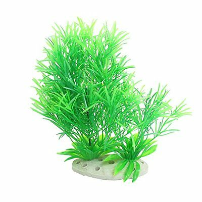Sourcingmap Plastic Fish Tank Emulational Grass/Plants, 7.7-Inch, Green
