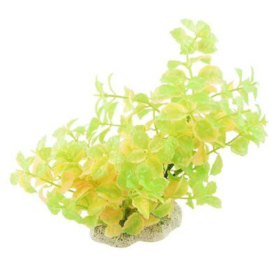 Sourcingmap Plastic Fish Tank Serrated Leaves Plant, 7.3-inch