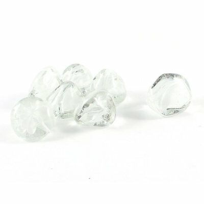 Sourcingmap Fish Tank Glass Stones Ornament, 7 Pieces, White/ Clear