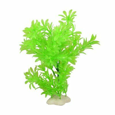 sourcingmap Plastic Fish Tank Decor Aquatic Plant, 10-inch, Light Green