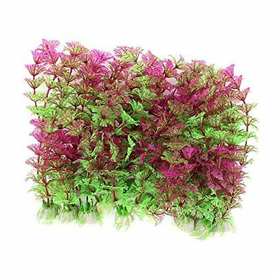 Sourcingmap Snowflake Shaped Leaf Plastic Aquarium Plants, 21 cm, Green/Purple,