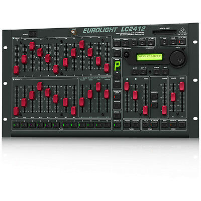 BEHRINGER EUROLIGHT LC2412 24-Channel DMX MIDI Lighting Console + Warranty
