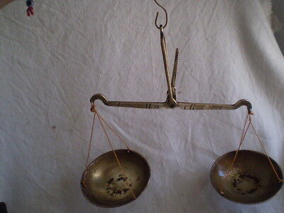 ANTIQUE-OLD APOTHECARY BRASS BALANCE 1800s